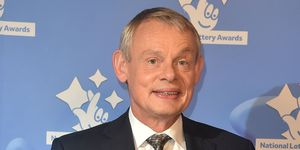 Martin Clunes arriving at The National Lottery Awards 2017