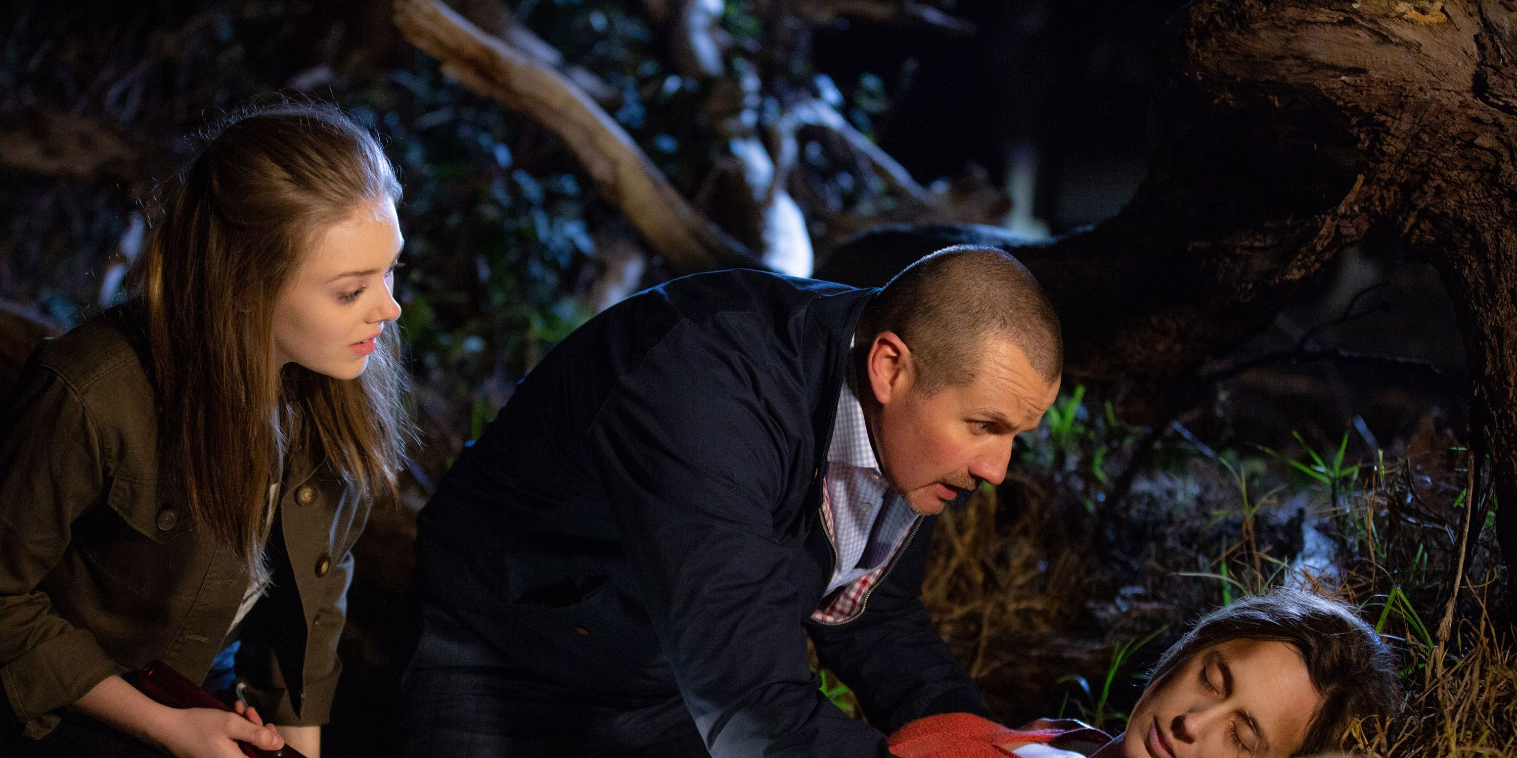 Willow Somers and Toadie Rebecchi find Sonya Rebecchi in a terrible state in Neighbours