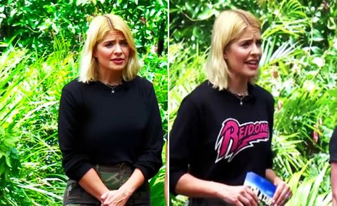 Holly Willoughby Jumper Swap on I'm A Celebrity, November 2018