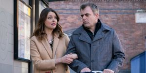 Tracy Barlow and Steve McDonald make plans for the evening in Coronation Street