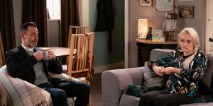 Sinead Tinker confides in Billy Mayhew in Coronation Street