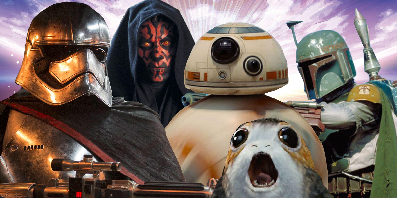 Photoshop, Star Wars characters, Captain Phasma, BB-8, Darth Maul, Boba Fett, Porgs
