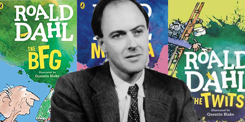 Roald Dahl books, author pictured in 1961