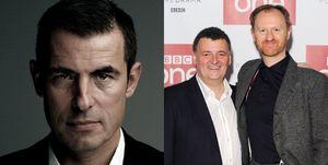 Claes Bang, Steven Moffat and Mark Gatiss of 'Dracula'