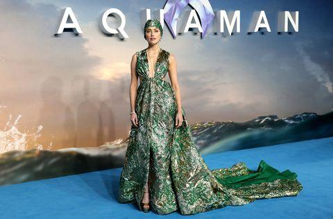 amber heard, aquaman world premiere red carpet
