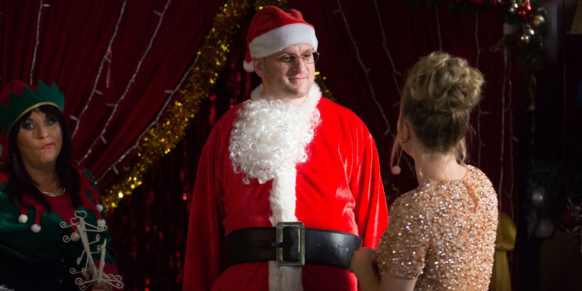 Stuart Highway dresses up as Santa in EastEnders