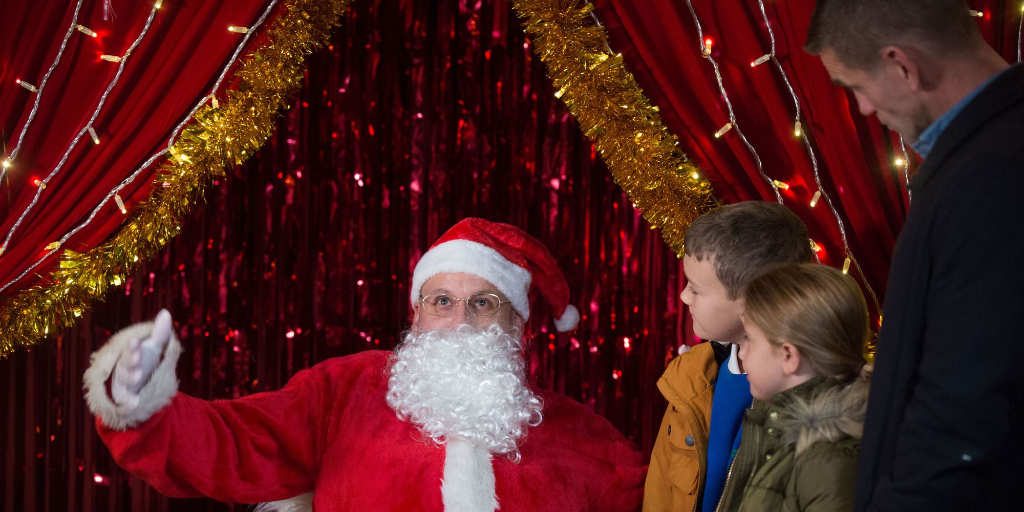 Stuart Highway annoys Jack Branning while dressed as Santa in EastEnders