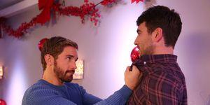 Brody Hudson and Damon Kinsella clash in Hollyoaks