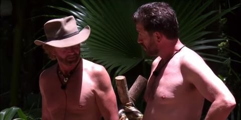 Noel Edmonds and Nick Knowles I'm A Celeb