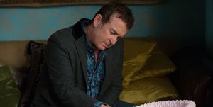 Alfie Moon spends time with baby Cherry in EastEnders