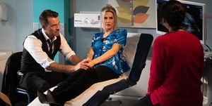 Darren Osborne and Mandy Richardson see the doctor in Hollyoaks
