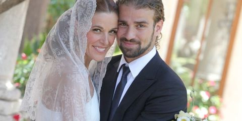 Raquel y Mario, el día de su boda el 22 de junio de 2012.