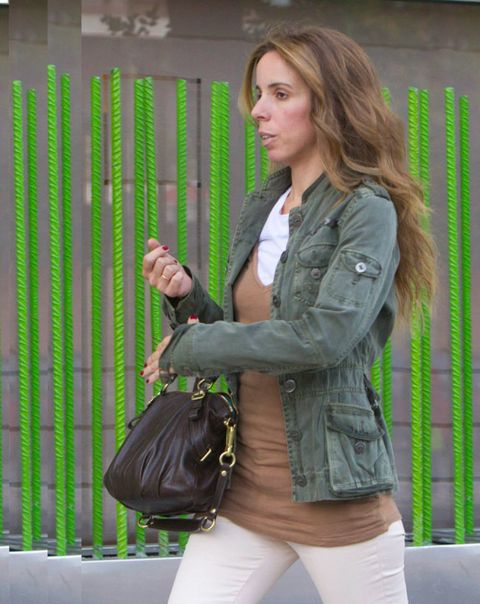 Sleeve, Green, Shoulder, Bag, Textile, Outerwear, Style, Jacket, Street fashion, Luggage and bags,