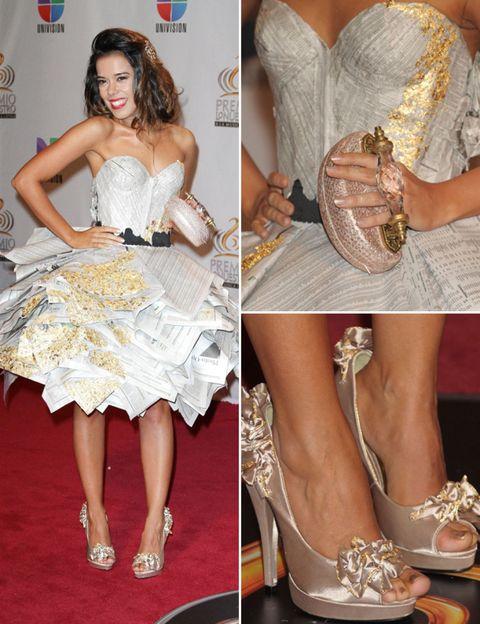 Footwear, Dress, Style, Fashion accessory, Fashion, One-piece garment, Day dress, Sandal, Tan, Strapless dress,