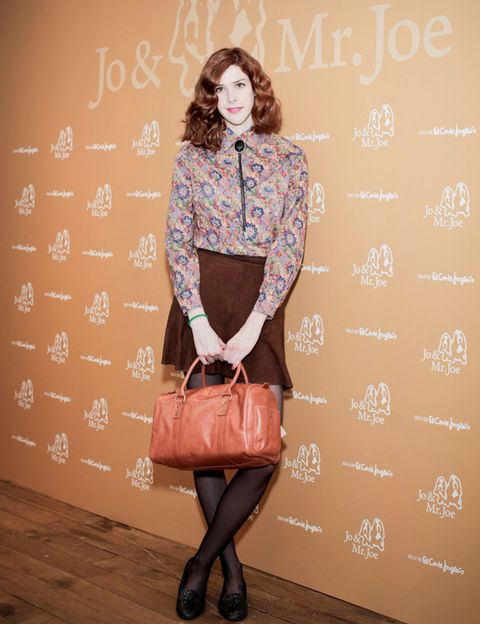 Clothing, Brown, Sleeve, Shoulder, Textile, Bag, Joint, Outerwear, Style, Pattern,