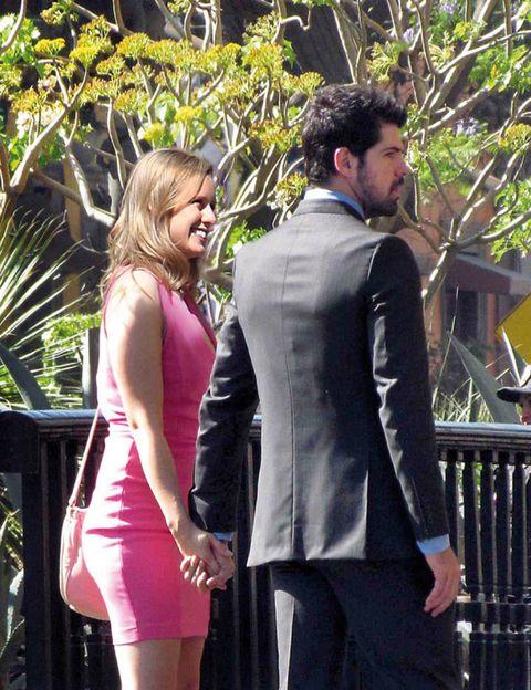 Trousers, Coat, Outerwear, Formal wear, Dress, Suit, Beard, Waist, Suit trousers, Pocket,