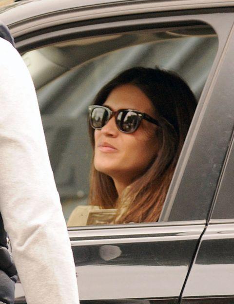 Eyewear, Vision care, Glasses, Shoulder, Sunglasses, Vehicle door, Goggles, Fashion accessory, Long hair, Car seat,