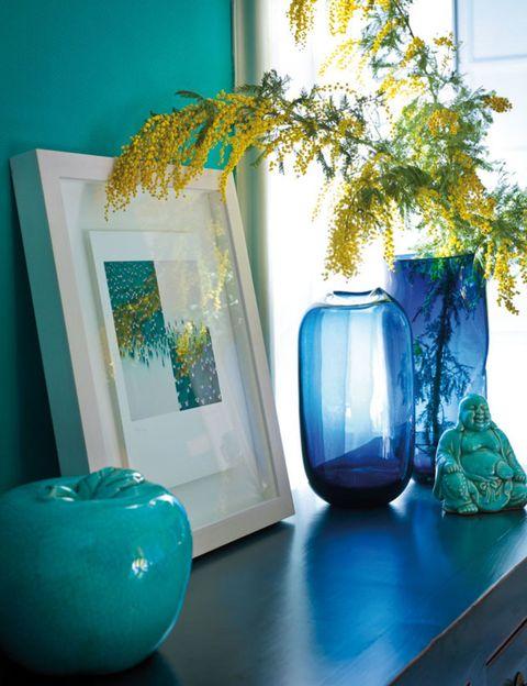 Blue, Green, Majorelle blue, Teal, Turquoise, Aqua, Azure, Interior design, Artifact, Still life photography,
