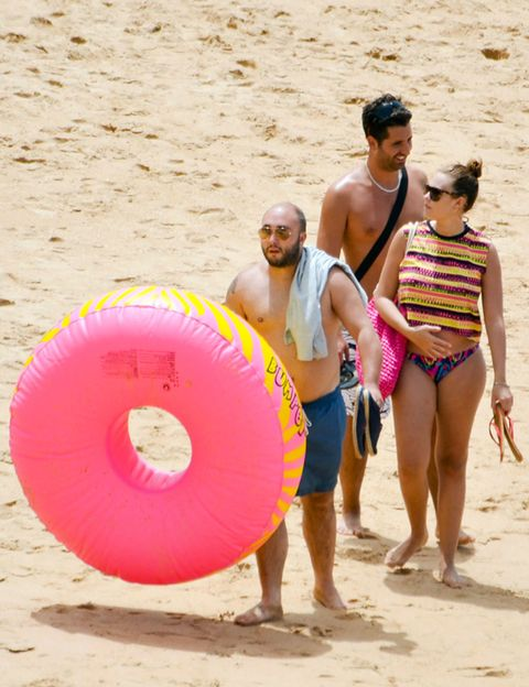 Fun, Sand, People in nature, Summer, Hat, Undergarment, Interaction, People on beach, Vacation, Beach,