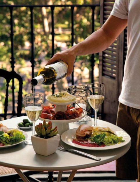 Food, Dishware, Cuisine, Serveware, Drink, Meal, Table, Tableware, Dish, Furniture,