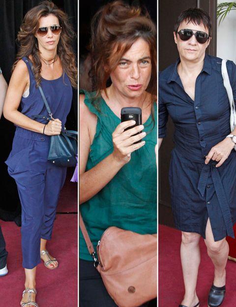 Clothing, Eyewear, Hair, Face, Footwear, Head, Vision care, Brown, Hairstyle, Sunglasses,
