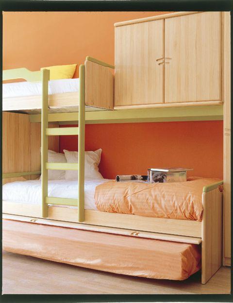 Wood, Room, Bed, Wall, Bedding, Bedroom, Interior design, Linens, Hardwood, Bed sheet,