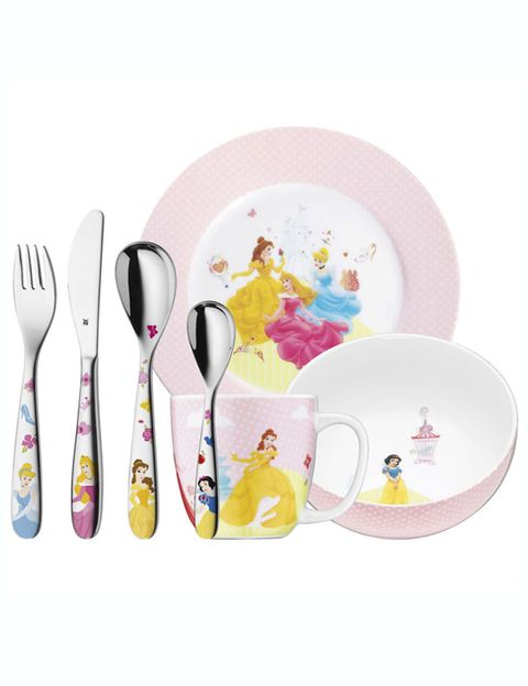 Dishware, Product, Yellow, Serveware, Cutlery, Pink, Tableware, Kitchen utensil, Lavender, Household silver,
