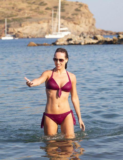 Clothing, Brassiere, Swimwear, Water, Swimsuit top, Swimsuit bottom, Bikini, Coastal and oceanic landforms, Undergarment, Summer,