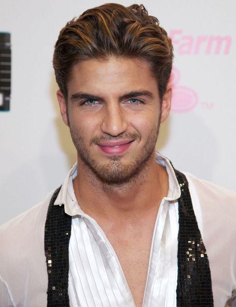 Lip, Mouth, Cheek, Facial hair, Hairstyle, Dress shirt, Chin, Forehead, Collar, Eyebrow,