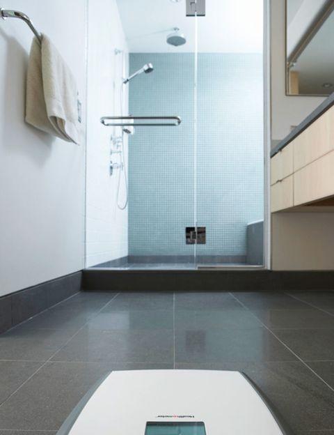 Architecture, Floor, Property, Flooring, Plumbing fixture, Wall, Tile, Room, Shower head, Glass,