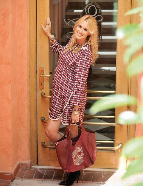 Clothing, Shoe, Style, Fashion accessory, Street fashion, Fashion, Bag, Knee, High heels, Blond,