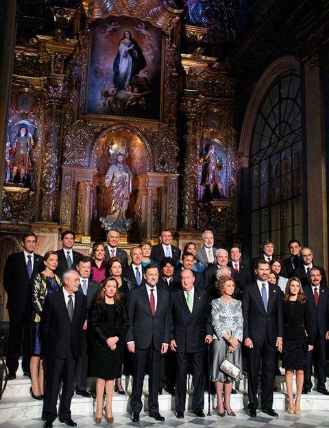 Social group, Coat, Suit, Formal wear, Suit trousers, Chapel, Place of worship, Religious institute, Blazer, Church,