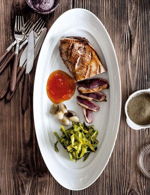Food, Dishware, Serveware, Tableware, Plate, Ingredient, Meal, Kitchen utensil, Meat, Breakfast,