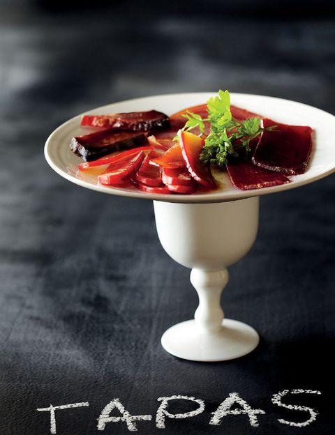 Food, Ingredient, Red, Tableware, Garnish, Strawberries, Dish, Serveware, Produce, Dishware,