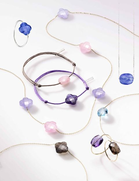 Blue, Pink, Magenta, Purple, Violet, Jewellery, Fashion accessory, Natural material, Lavender, Cobalt blue,