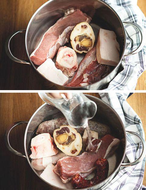 Food, Cuisine, Ingredient, Recipe, Animal product, Animal fat, Dishware, Dish, Meat, Flesh,