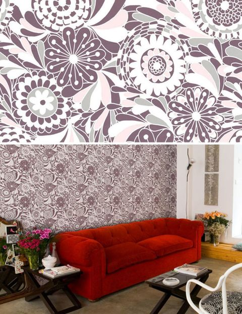 Room, Interior design, Furniture, Wall, Living room, Couch, Pattern, Interior design, Table, Art,