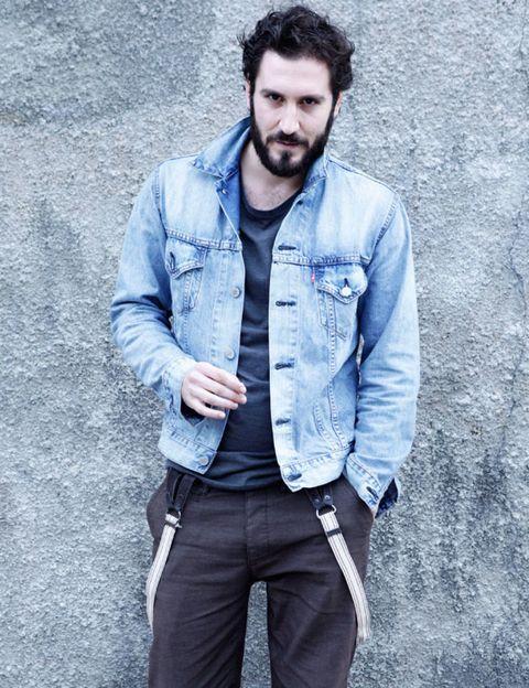 Blue, Sleeve, Trousers, Collar, Denim, Shirt, Textile, Dress shirt, Outerwear, Jacket,