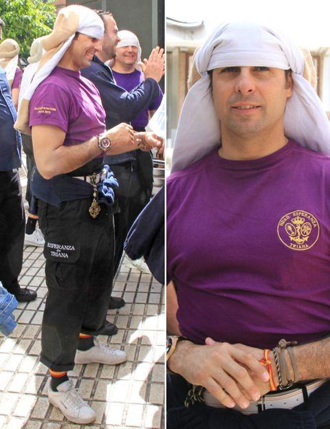 Arm, Product, Sleeve, Hat, Purple, Headgear, Wrist, Cap, Waist, Sun hat,