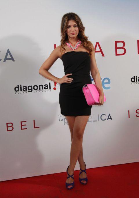 Clothing, Footwear, Dress, Shoe, Shoulder, Red, Flooring, Human leg, Joint, Style,