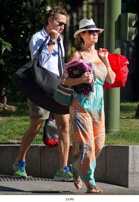 Clothing, Hat, Trousers, Outerwear, Bag, Sun hat, Fashion accessory, Dress, Sunglasses, Luggage and bags,