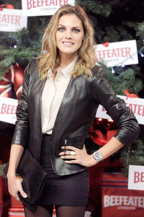 Sleeve, Outerwear, Jacket, Coat, Style, Fashion model, Beauty, Blazer, Logo, Street fashion,