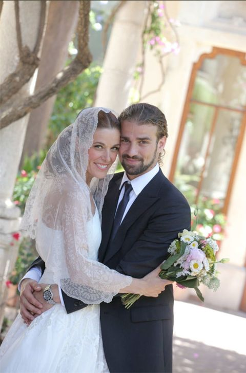Clothing, Coat, Bridal clothing, Bridal veil, Photograph, Outerwear, Suit, Happy, Veil, Wedding dress,
