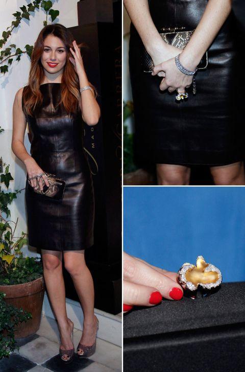 Clothing, Flowerpot, Dress, Hand, Joint, Fashion accessory, Style, Fashion, Wrist, Black,