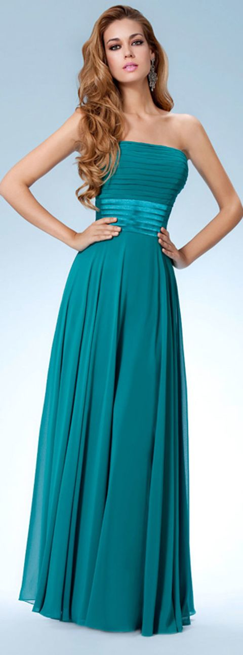 Clothing, Blue, Green, Dress, Sleeve, Shoulder, Standing, Joint, One-piece garment, Teal,