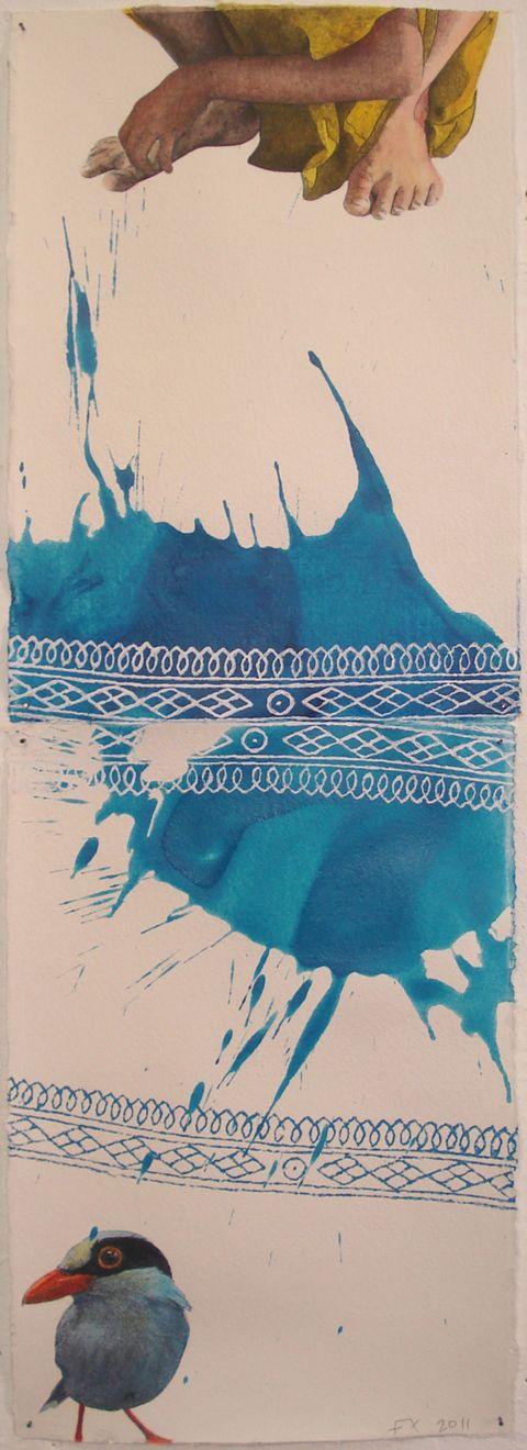 Art, Teal, Aqua, Turquoise, Painting, Artwork, Illustration, Art paint, Drawing, Visual arts,