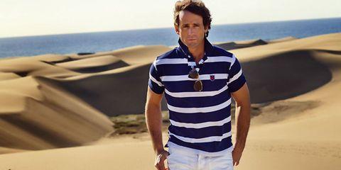 Sleeve, Sand, Standing, Landscape, Denim, Collar, Khaki, T-shirt, Neck, Cool,