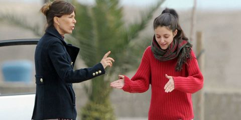Face, Sleeve, Winter, People in nature, Interaction, Jacket, Gesture, Blazer, Stole, Scarf,