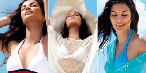 Skin, Facial expression, Thigh, Beauty, Brassiere, Undergarment, Waist, Swimsuit bottom, Chest, Abdomen,