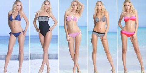 Clothing, Hair, Leg, Skin, Brassiere, Human leg, Waist, Swimsuit bottom, Bikini, Swimsuit top,